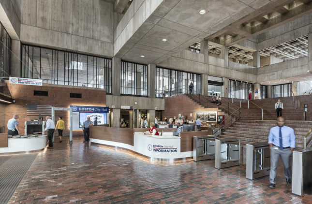 Boston City Hall lobby Anton Grassl/Esto