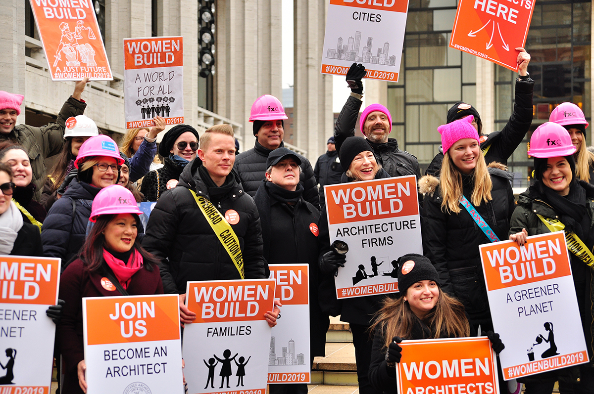 Photo of Womens March on NYC, Women Build campaign, Sydney Franklin