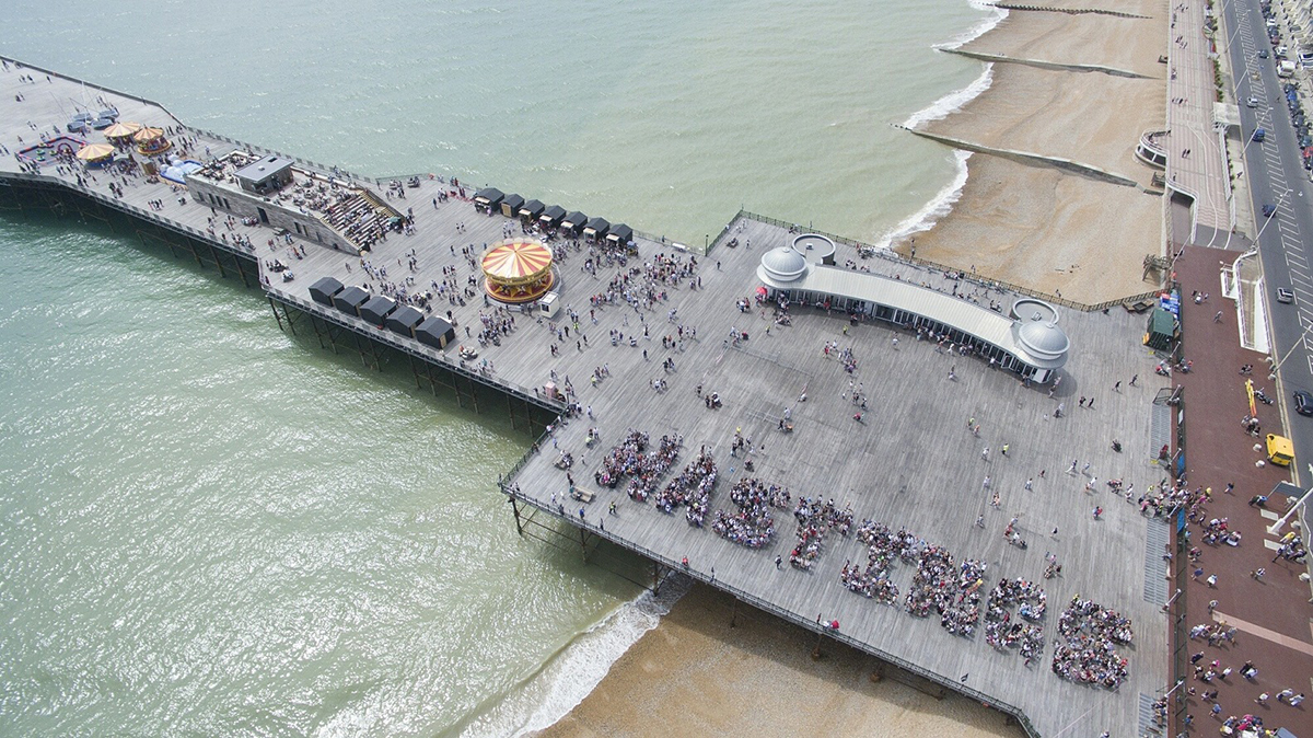 Aerial Photo of Hastings Pier by dRMM