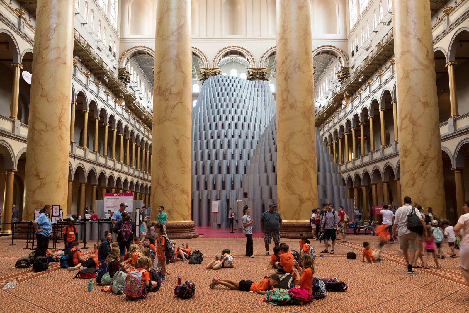 Photo of Studio Gang installation at the National Building Museum