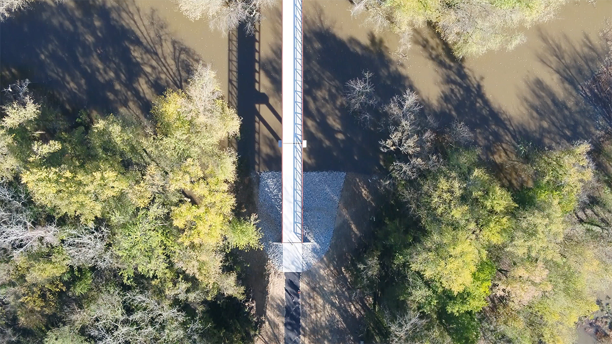 Aerial photo of Ohio River Greenway by Troy McCormick, River Heritage Conservancy