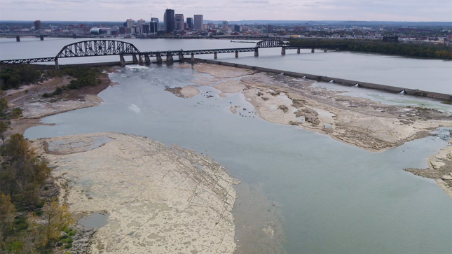 Photo of landfill in Ohio River by Troy McCormick, Courtesy River Heritage Conservancy