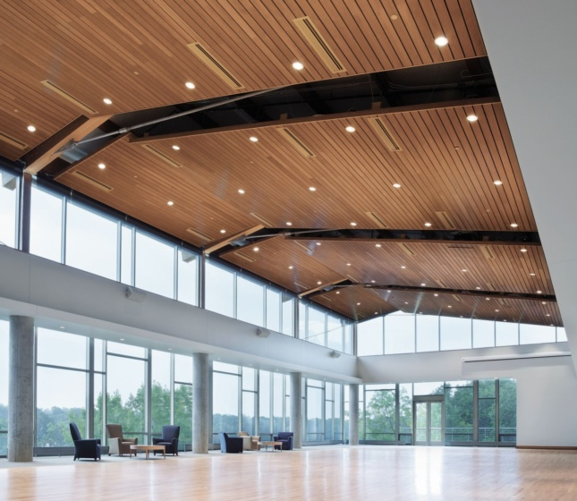 WOODWORKS Linear Solid Wood Panels Exterior Armstrong Ceiling & Wall Solutions