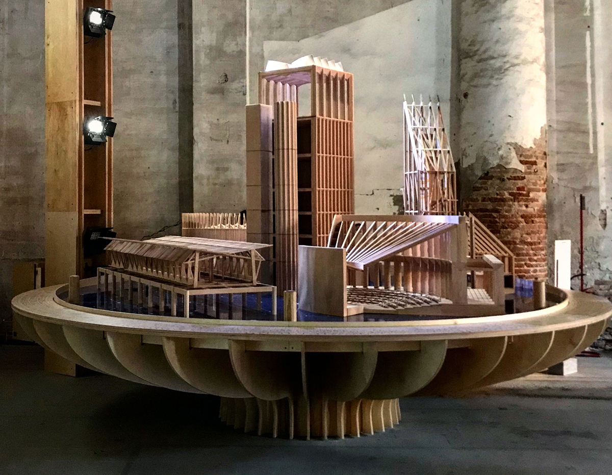 Photo of Venice Biennale model by Níall McLaughlin Architects