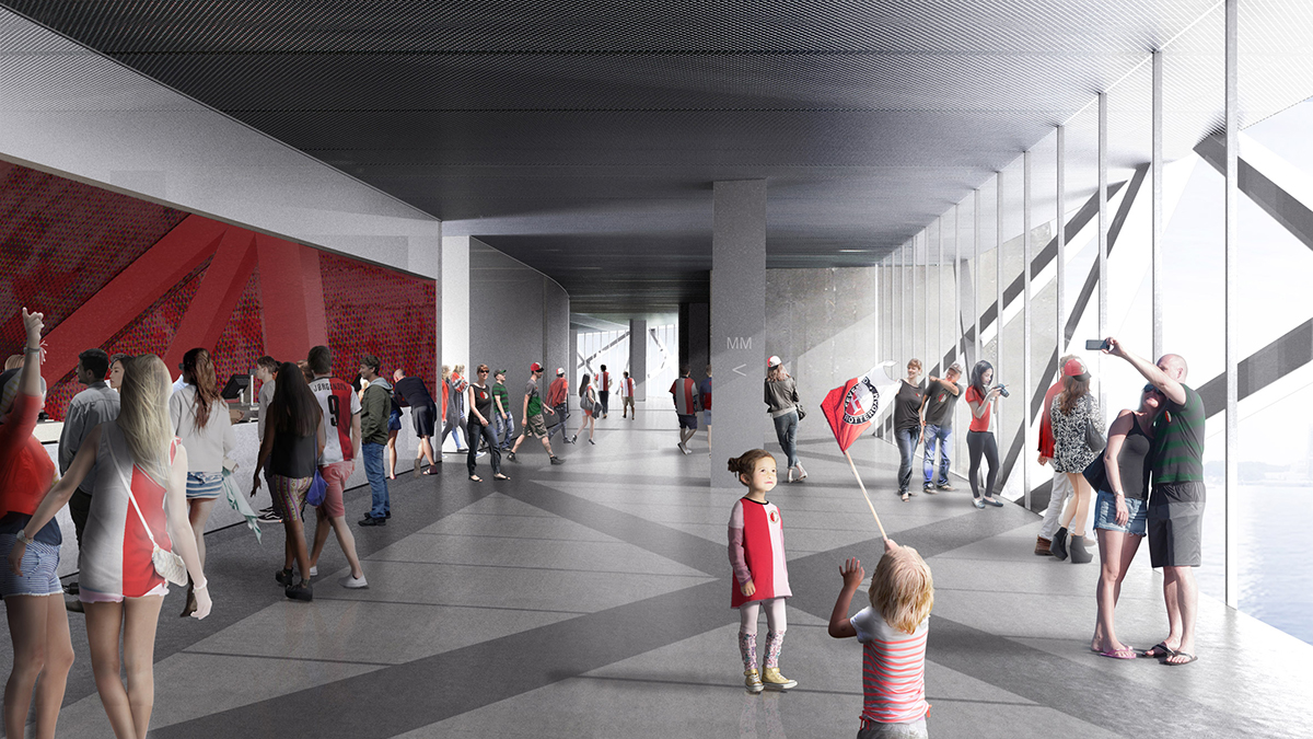 Oma S Feyenoord Stadium Set To Transform Rotterdam S Waterfront