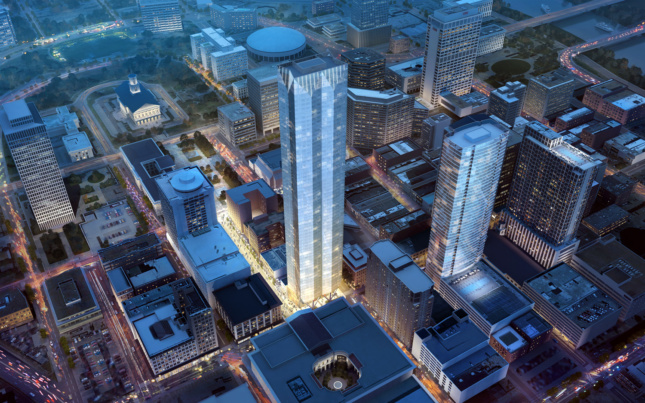 Rendering of Paramount Tower in Nashville