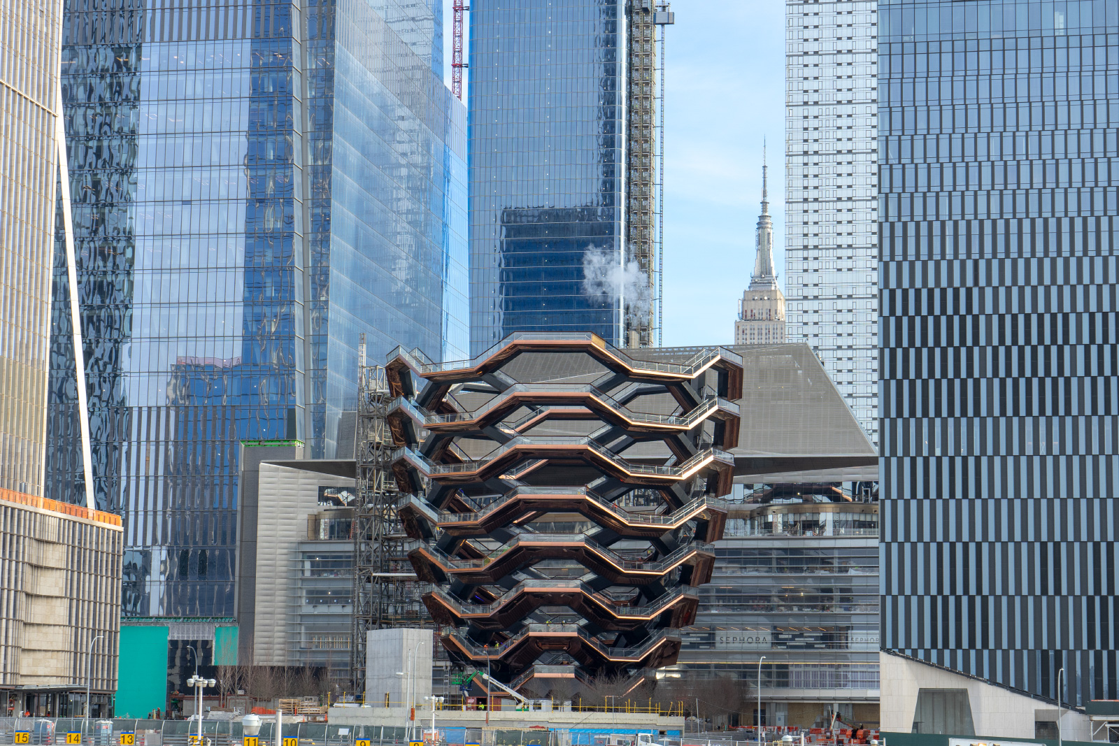 Photo of the Vessel and Hudson Yards