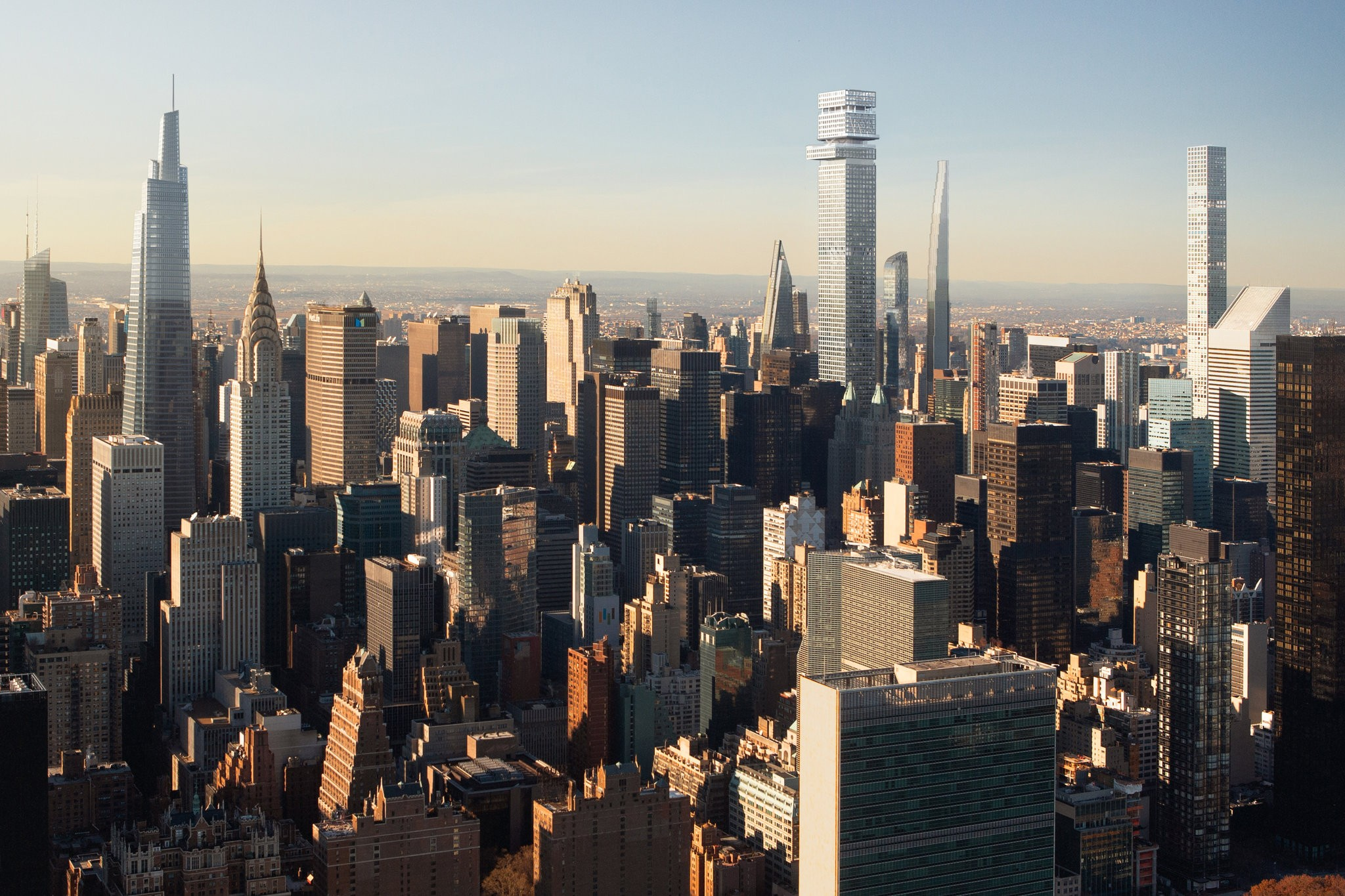 Rendering of the New York City skyline with Tower Fifth