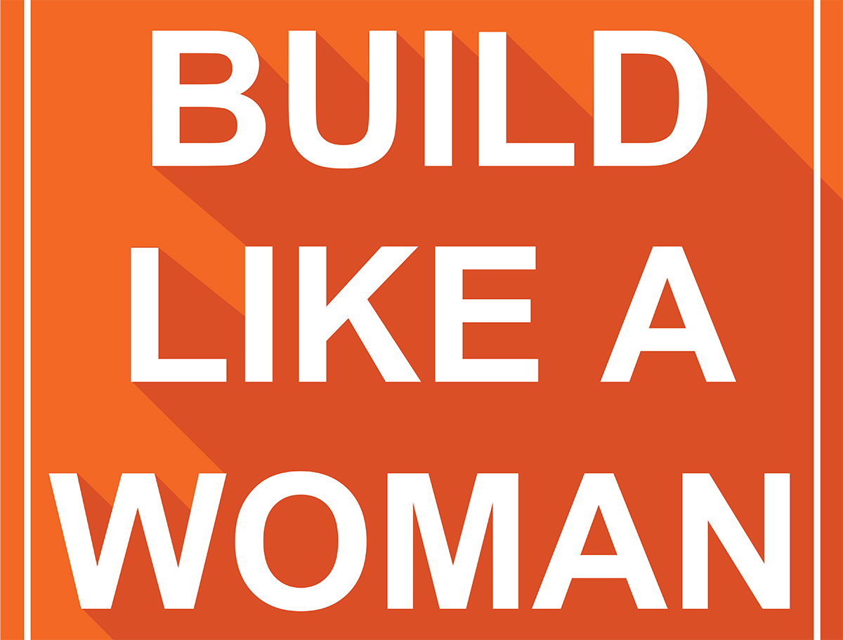 Women Build poster by CANNONDESIGN