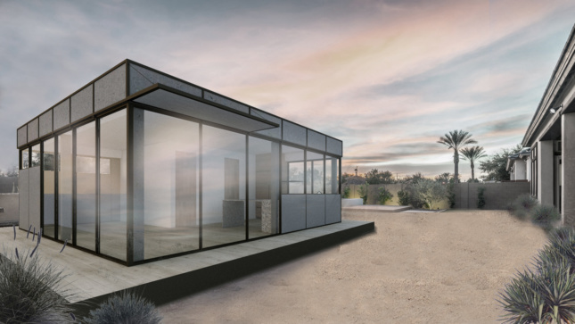 Rendering of an Accessory Dwelling Unit prototype