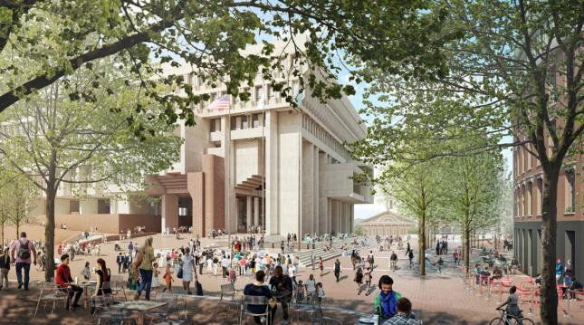 Boston City Hall rendering Reed Hilderbrand Landscape Architects