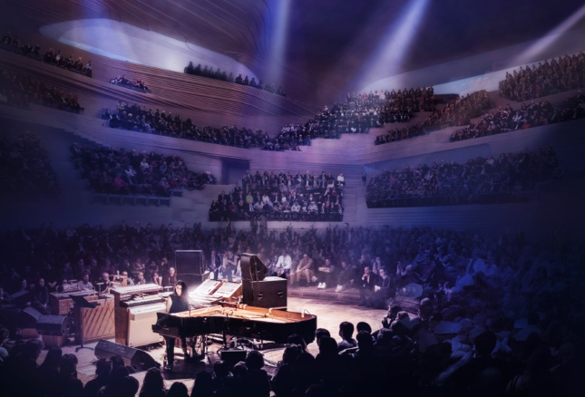 Rendering of Diller Scofidio + Renfro's design for the London Centre for Music
