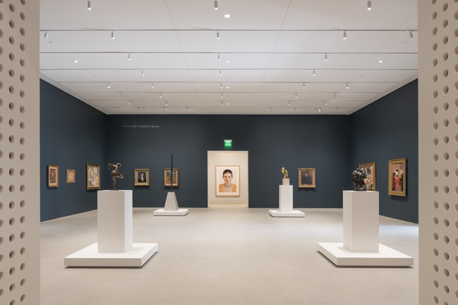 Photo of a gallery at the renovated Norton Museum of Art