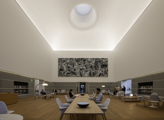 Photo of the interior of the renovated Norton Museum of Art