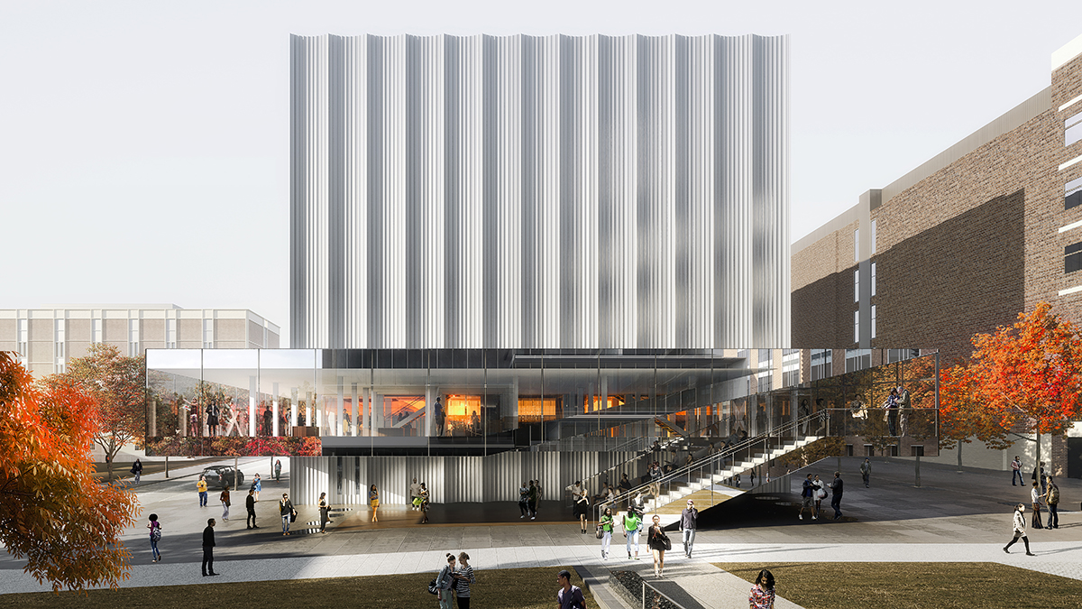REX Brown University rendering Performing Arts Center