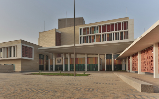 Photo of an angular stone building