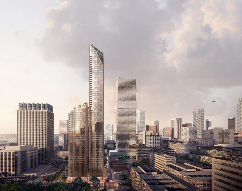Rendering of 11th and Hill tower