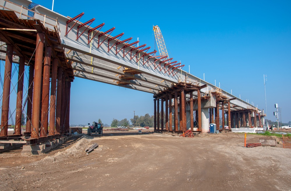 Construction photo showing High-Speed Rail