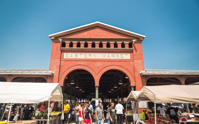 Photo of a brick market hall