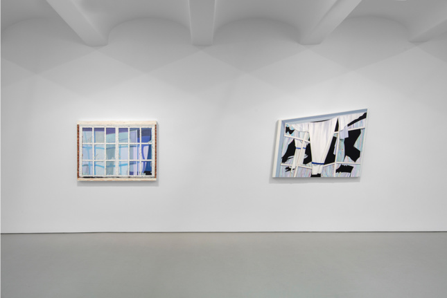 Photo of Jack Shainman Gallery and two paintings