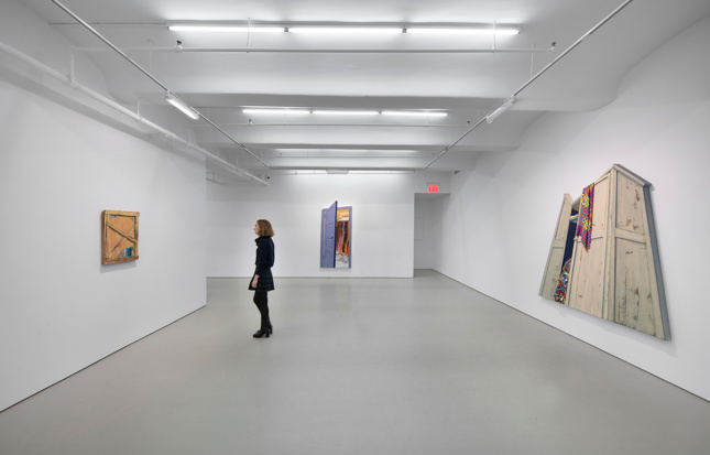 Photo of gallery exhibition of paintings