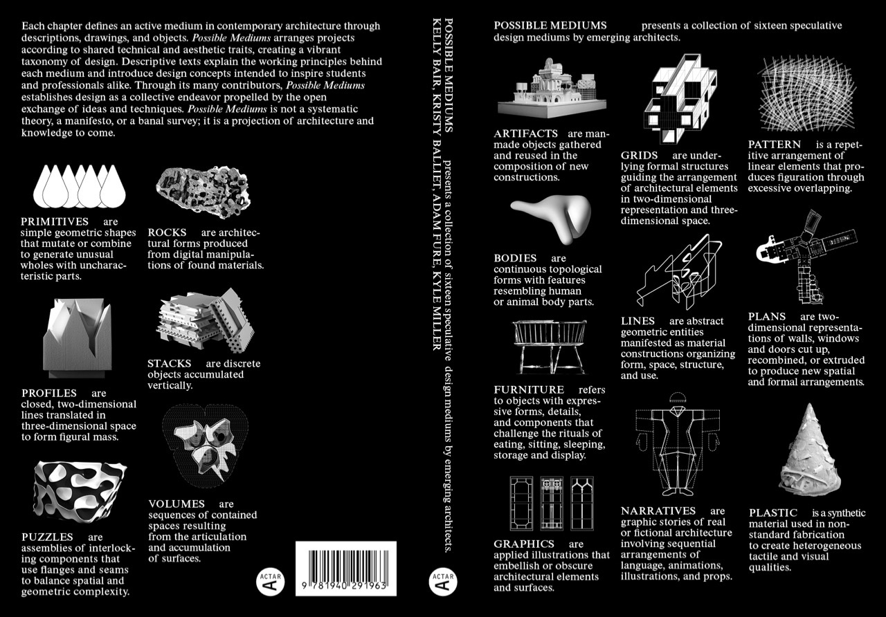 Black and white front and back book covers