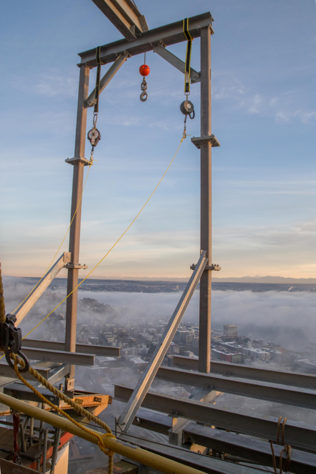 Photo of clouds over a cityscape