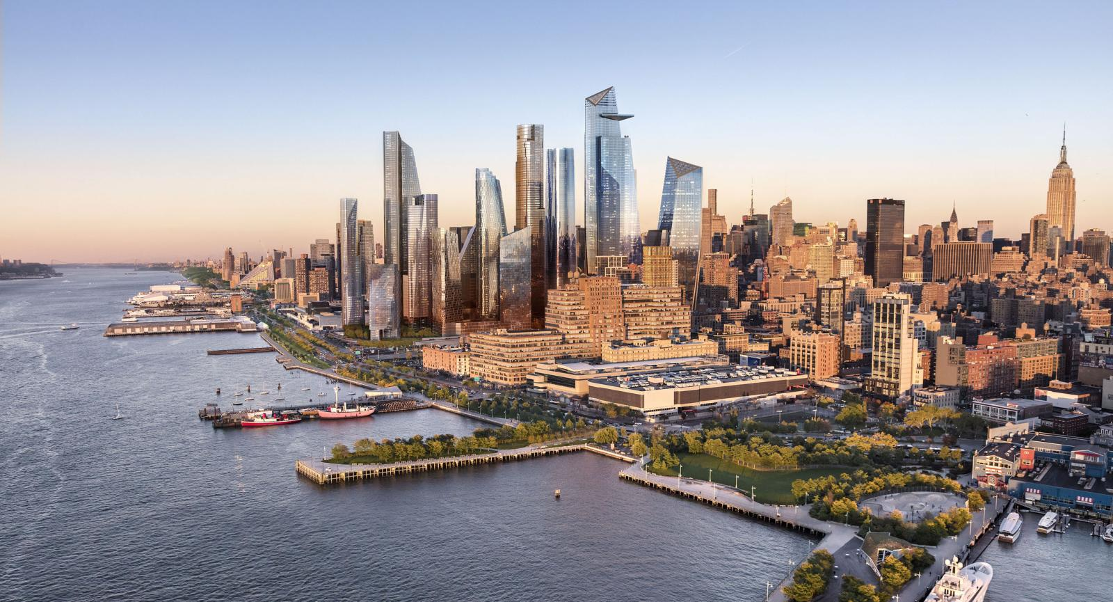 Rendering of the completed Hudson Yards development