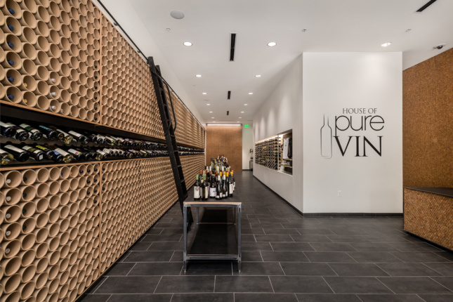 Photo of the interior of a wine store