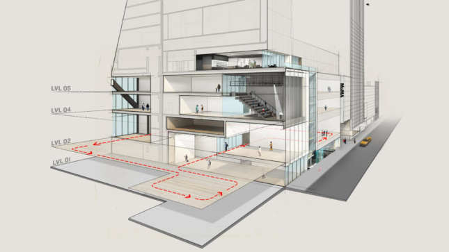 Cross section of the Museum of Modern Art