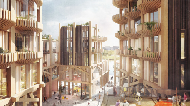 Rendering of timber towers