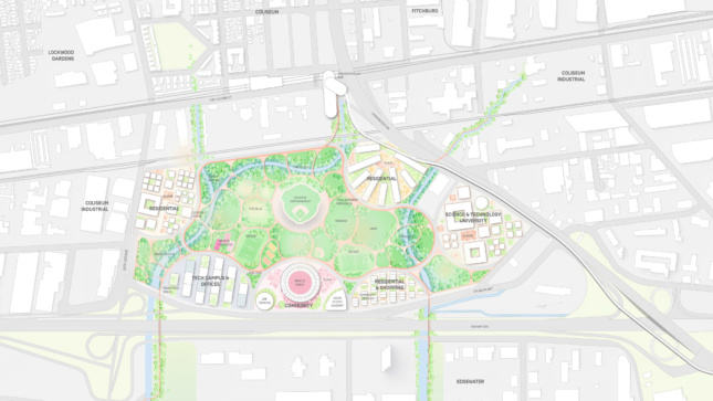 Site plan for a sports and municipal park
