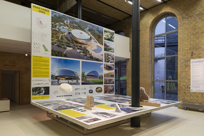 Photo of architecture exhibition in a gallery