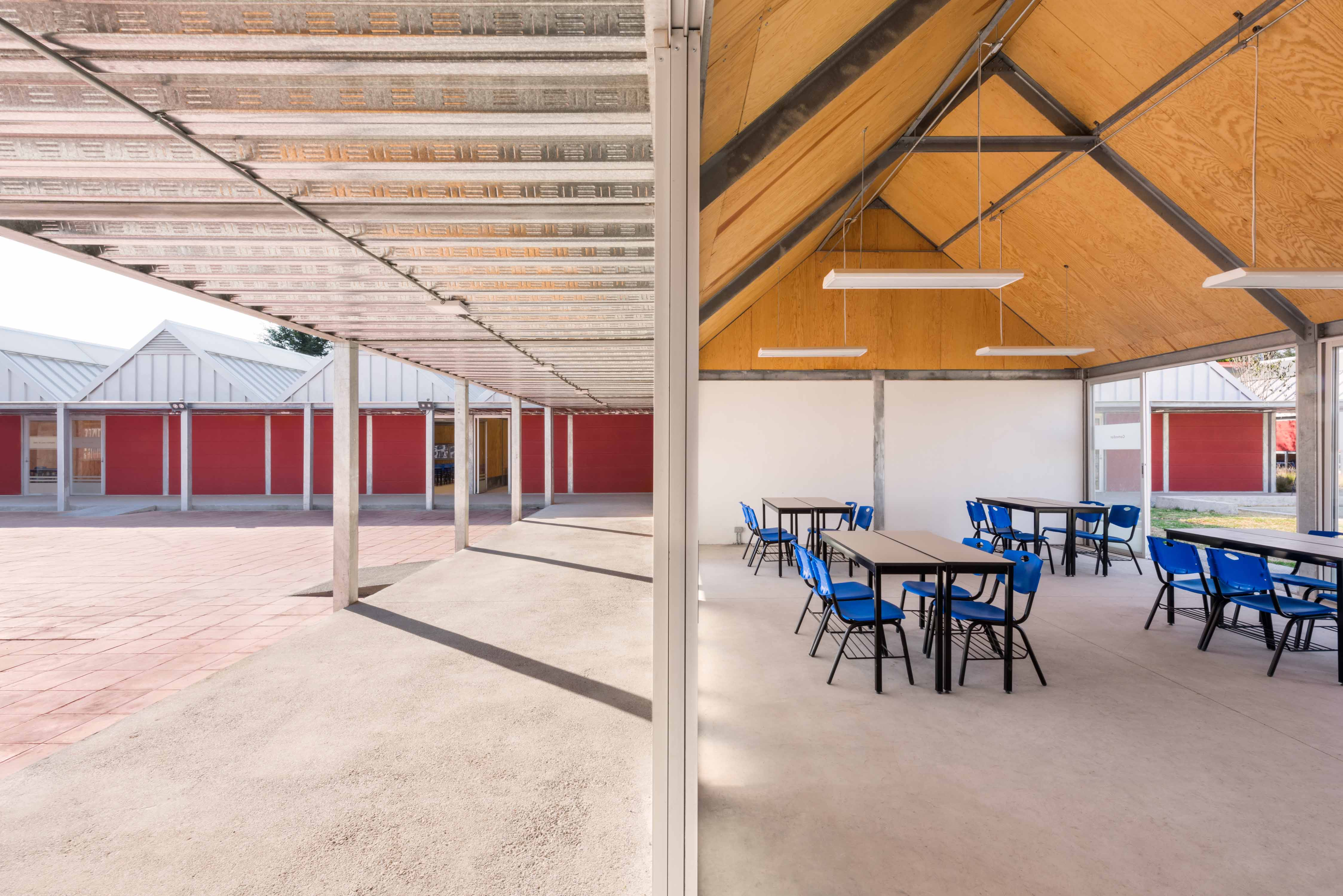 Photo of a school interior and exterior