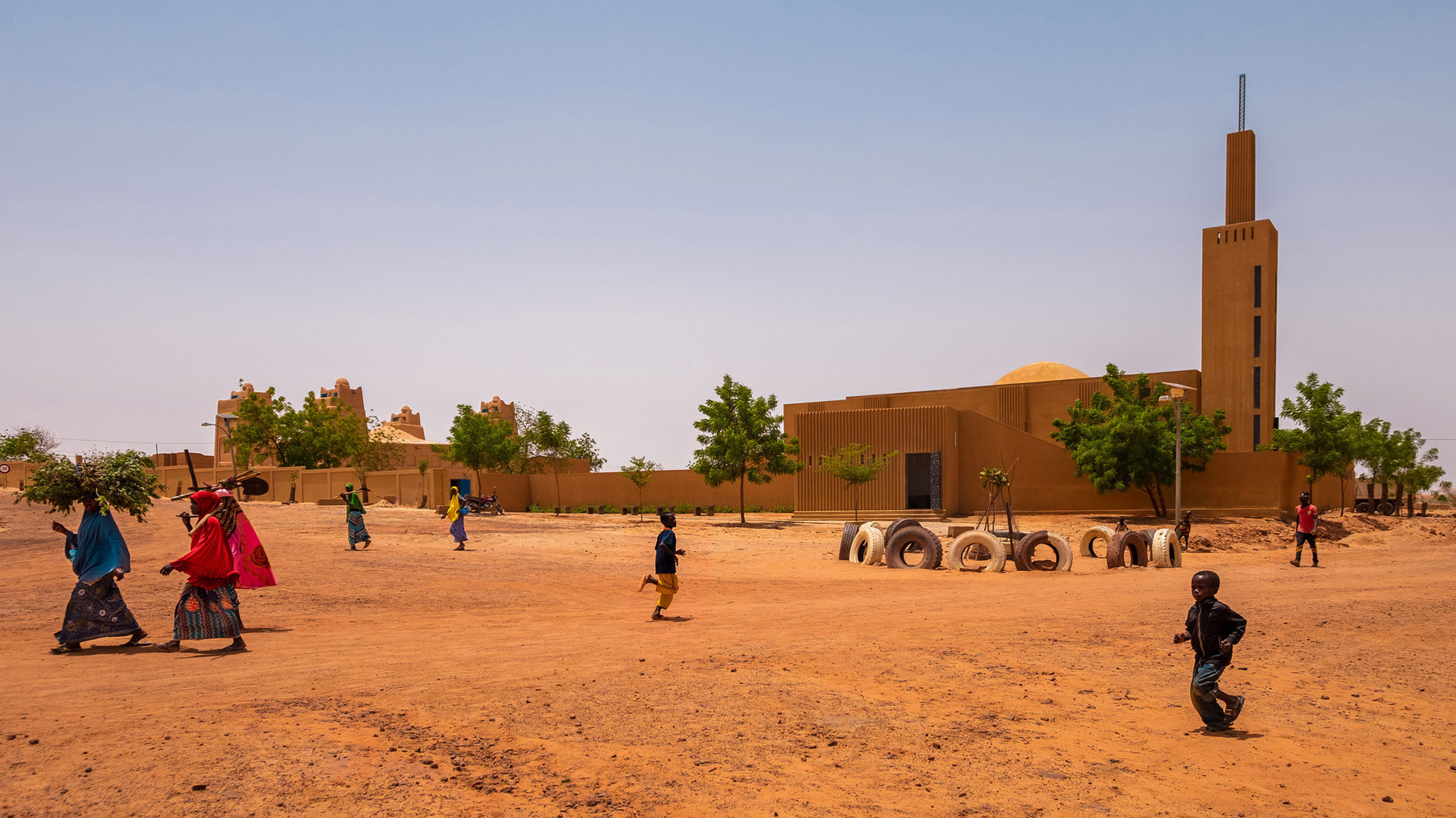 Photo of a library and community center in Niger