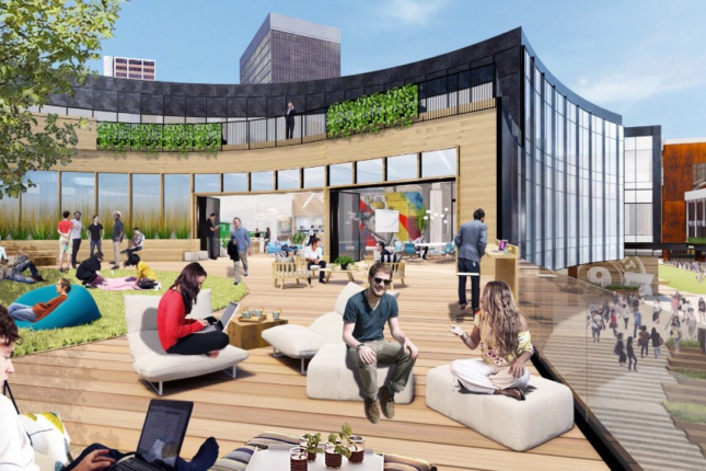 A rendering of the proposed Horton Plaza redevelopment
