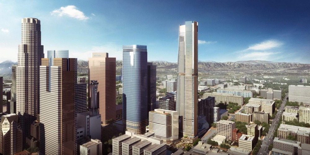 Rendering showing previous plans for Angels Landing towers