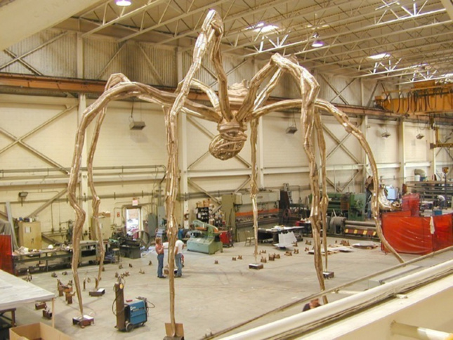 Photo of large-scale sculpture fabrication