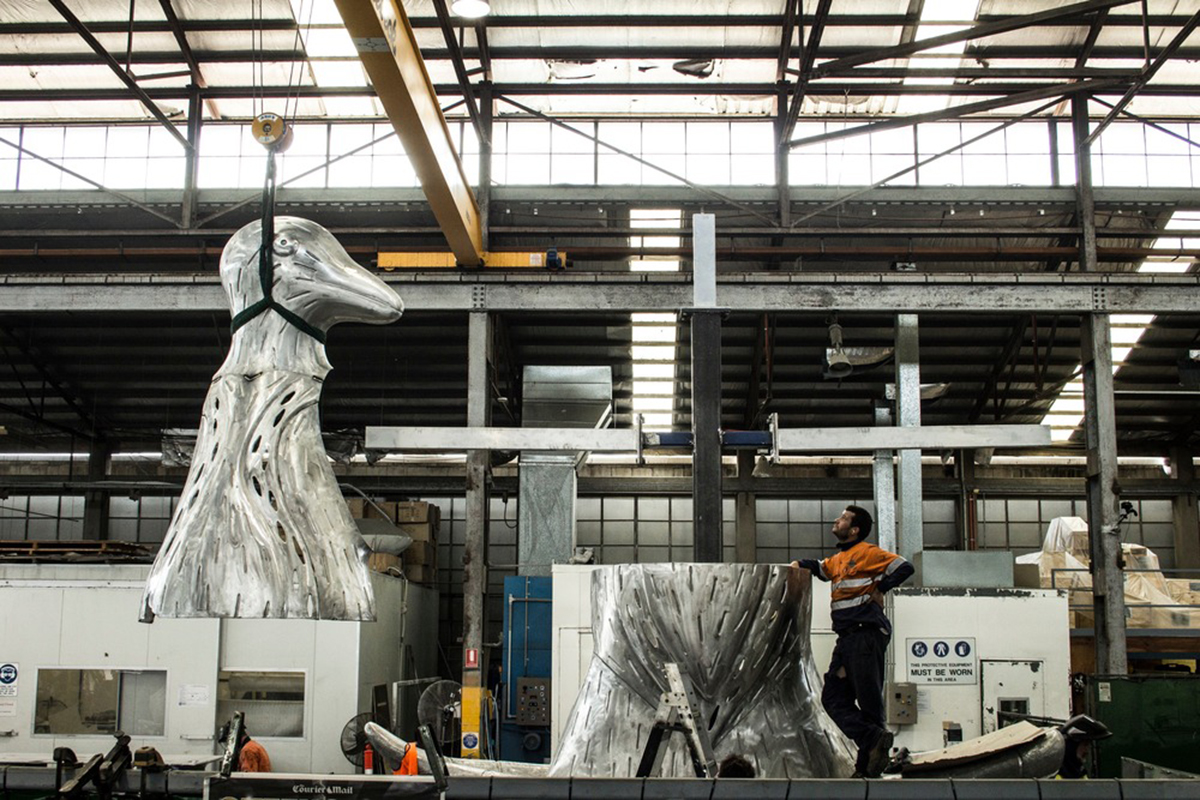 Photo of sculpture fabrication
