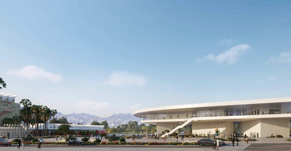 Rendering for proposed LACMA complex
