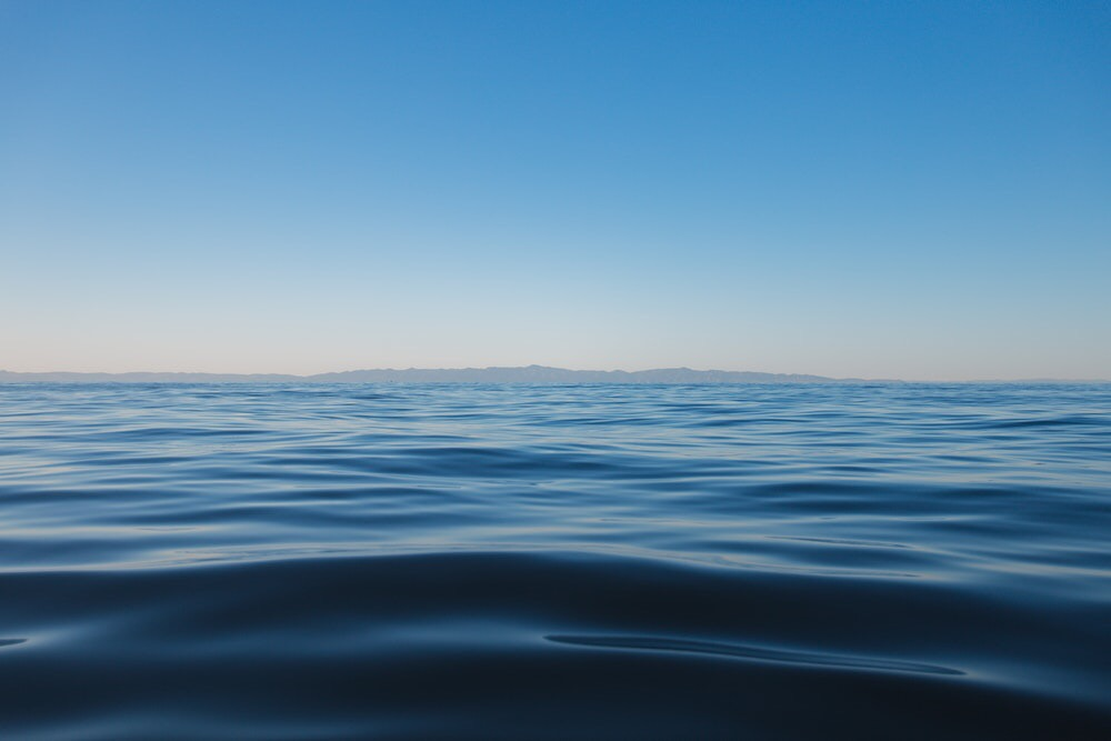 Photo of the ocean off Santa Barbara, California