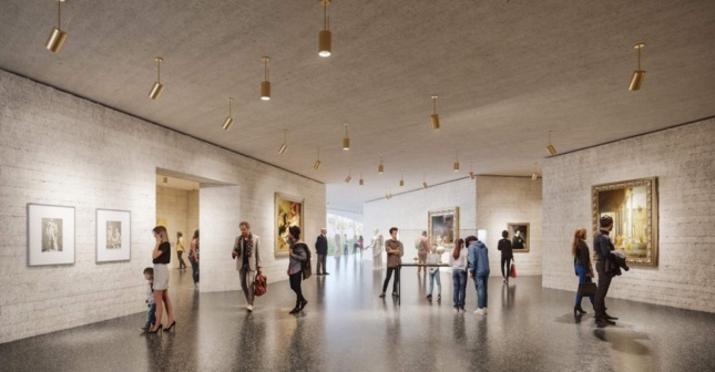 Interior rendering of LACMA proposal
