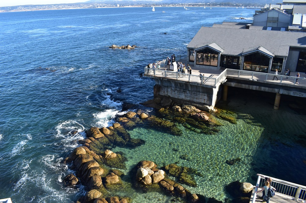 A photograph of the Monterey Bay Aquarium