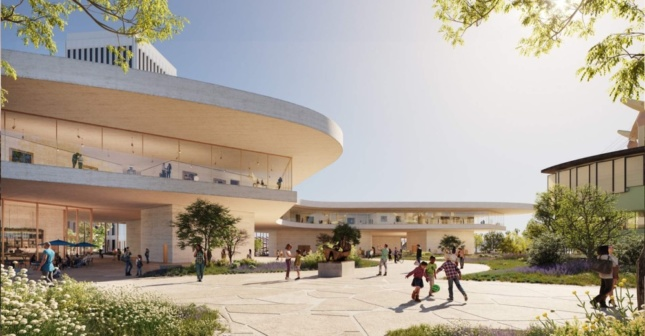 Ground level rendering of LACMA proposal