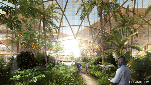 Rendering of a greenhouse