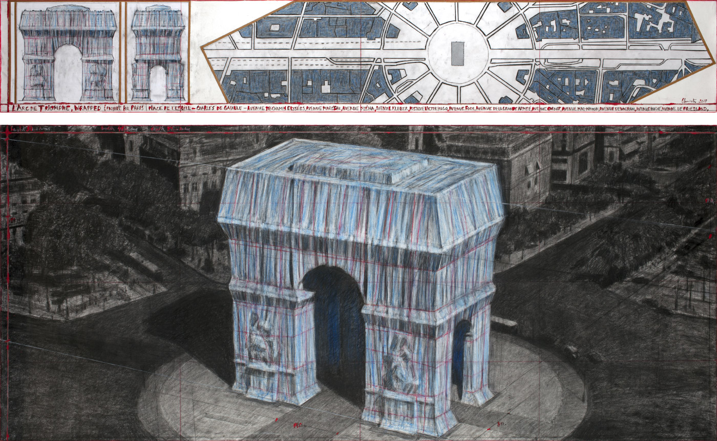 Drawing of the Arc de Triomphe