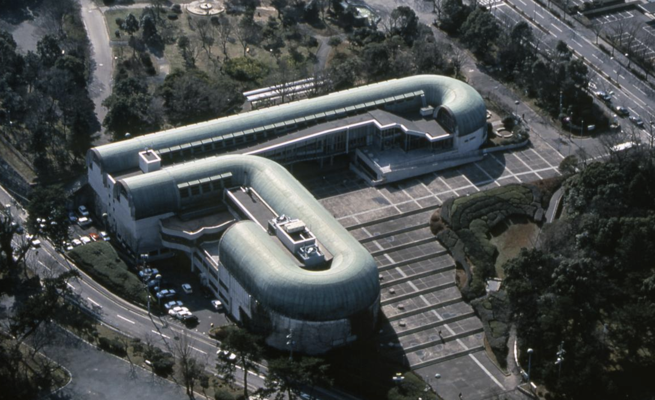 Aerial photo of Kitakyushu Central Library