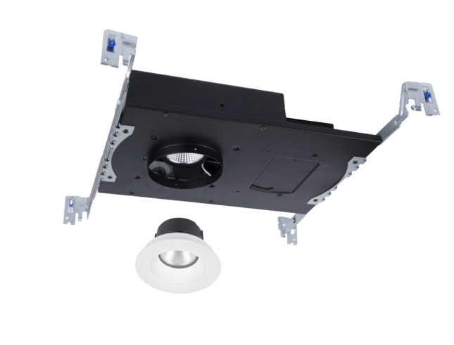 """Photo of Aether 2"""" Extreme Shallow LED Recessed Luminaire WAC Lighting unit taken apart"""