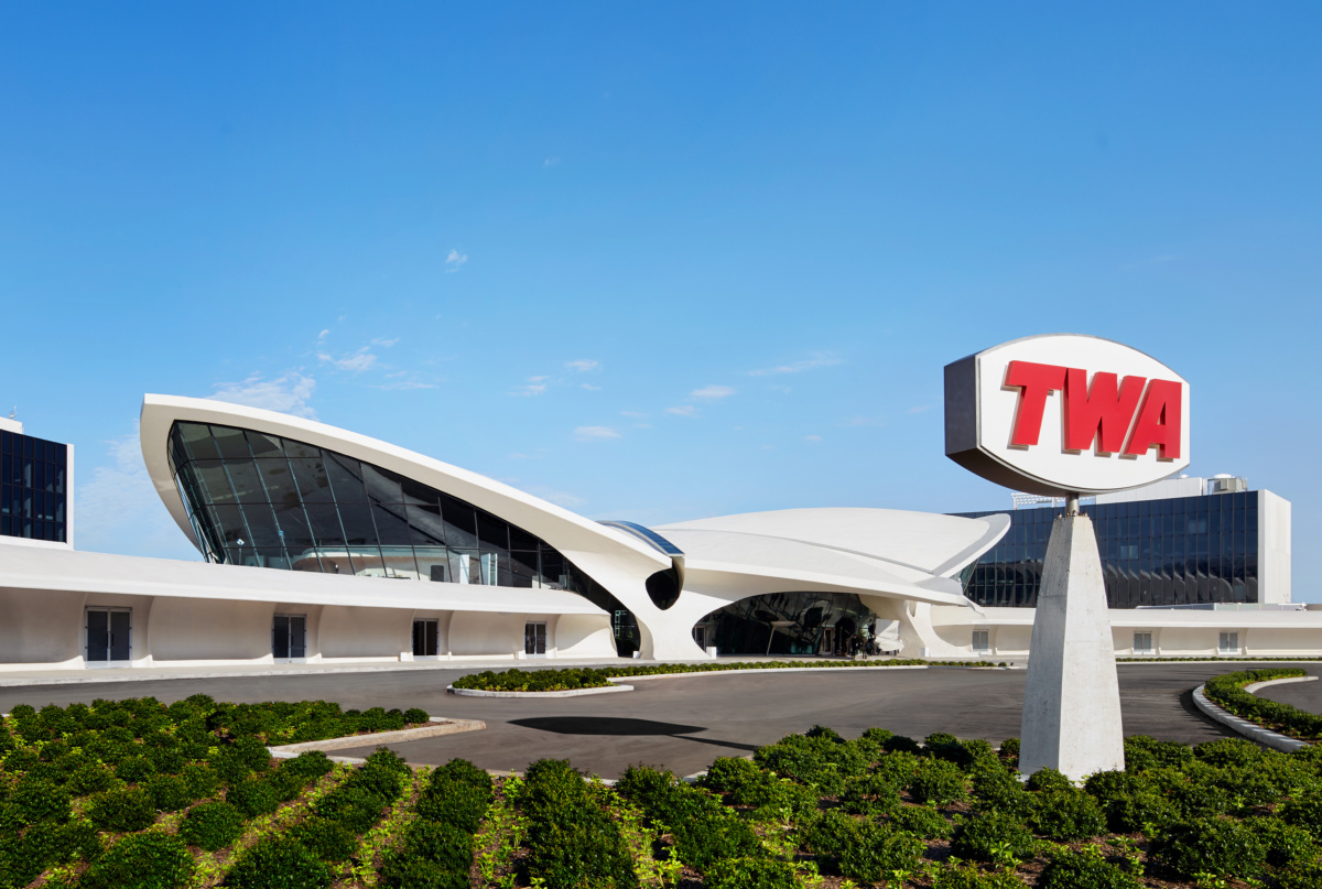 Exterior photo of TWA Hotel and Flight Center