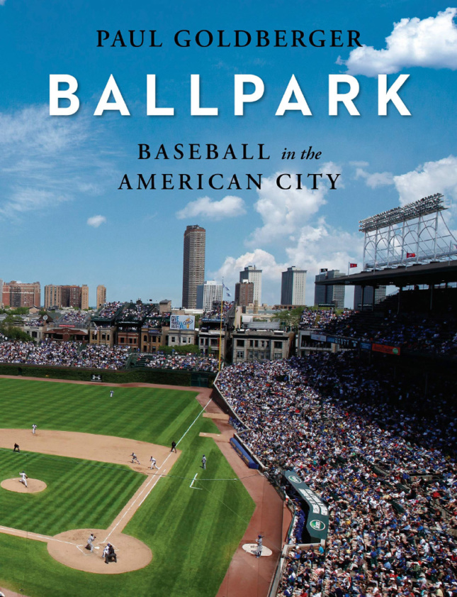 """A baseball stadium with the word """"Ballpark"""" on top"""